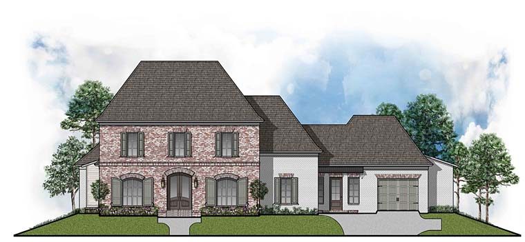 Colonial European Southern House Plan 41520 Elevation