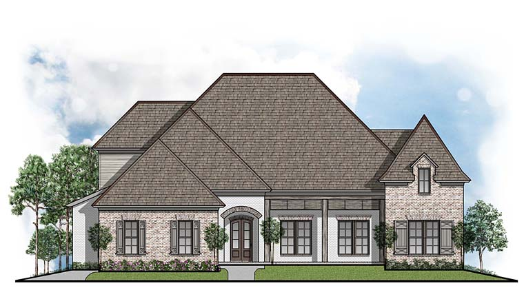 Contemporary European Southern House Plan 41521 Elevation