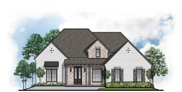 Country Traditional House Plan 41523 Elevation