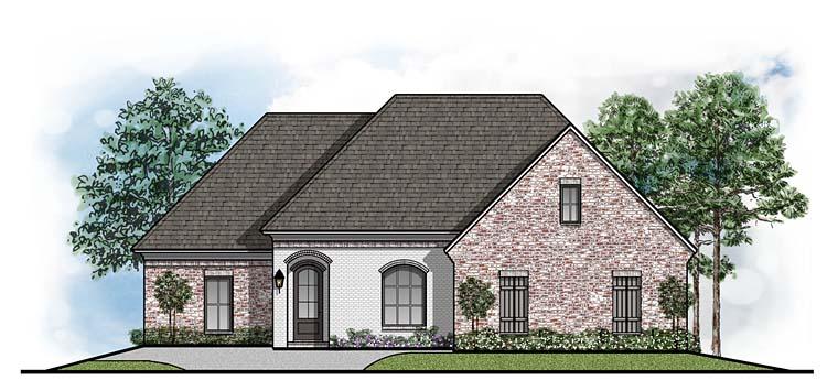 European Traditional House Plan 41525 Elevation