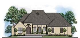 House Plan 41526 | European French Country Southern Style Plan with 2989 Sq Ft, 4 Bedrooms, 3 Bathrooms, 3 Car Garage Elevation