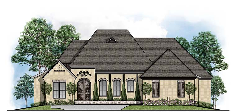 European French Country Southern House Plan 41526 Elevation
