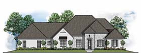 Southern , European House Plan 41527 with 4 Beds, 3 Baths, 3 Car Garage Elevation