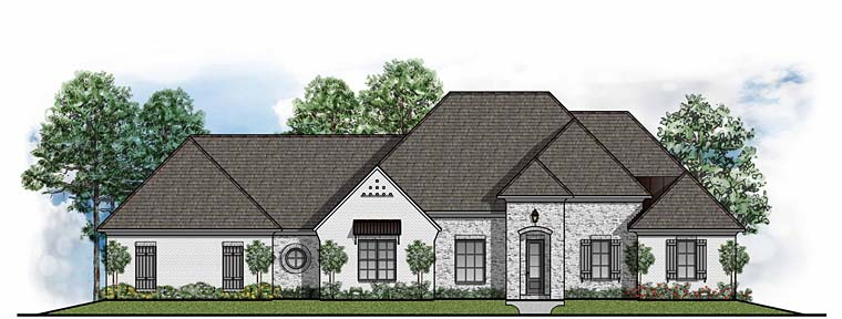 European Southern House Plan 41527 Elevation