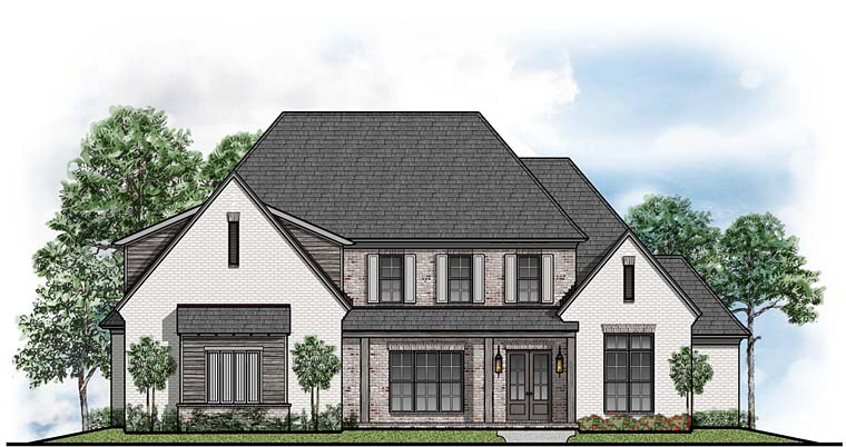 Contemporary, Country, Southern House Plan 41528 with 4 Beds, 4 Baths, 3 Car Garage Elevation