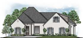European Southern Traditional House Plan 41529 Elevation