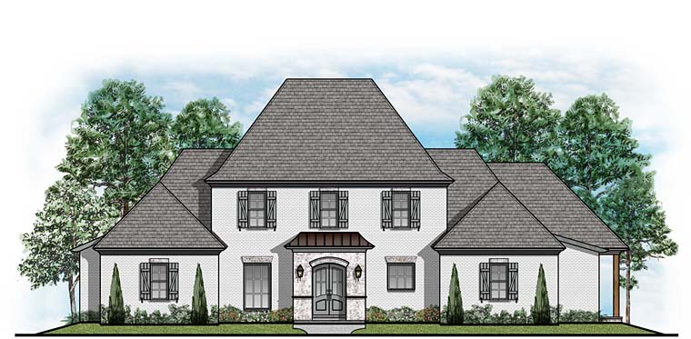 Colonial Country European House Plan 41532 Elevation