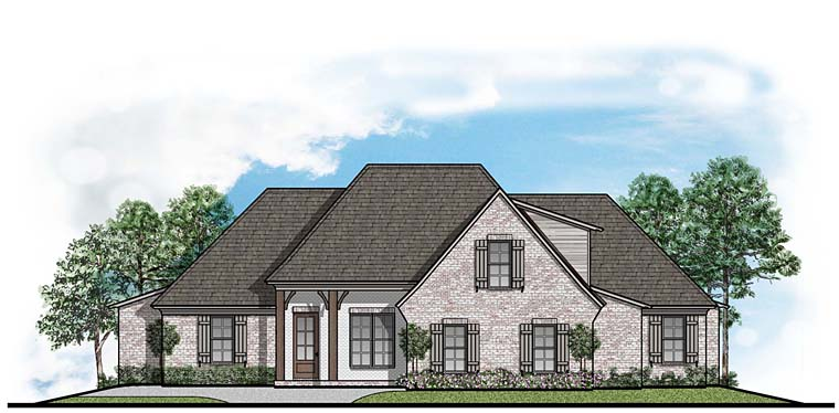 Colonial European Southern House Plan 41534 Elevation