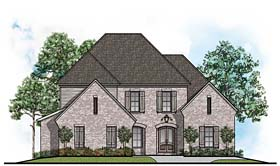 European Traditional House Plan 41535 Elevation