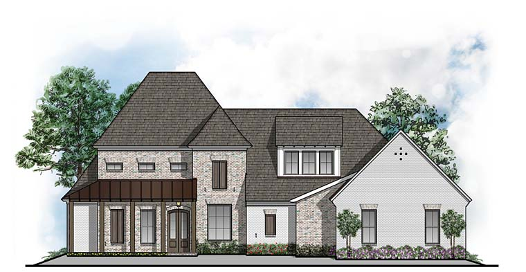 Colonial Contemporary European House Plan 41536 Elevation