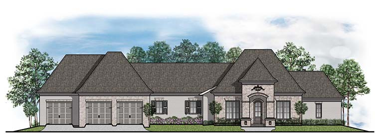 European French Country House Plan 41538 Elevation