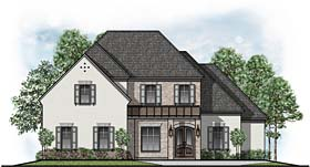 House Plan 41539 | European Southern Traditional Style Plan with 4145 Sq Ft, 4 Bedrooms, 5 Bathrooms, 2 Car Garage Elevation