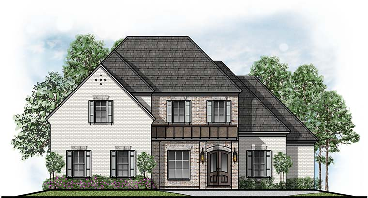 European Southern Traditional House Plan 41539 Elevation