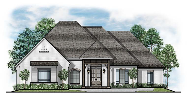 European Traditional House Plan 41540 Elevation