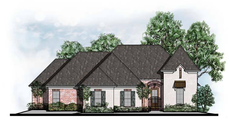 European Southern House Plan 41541 Elevation