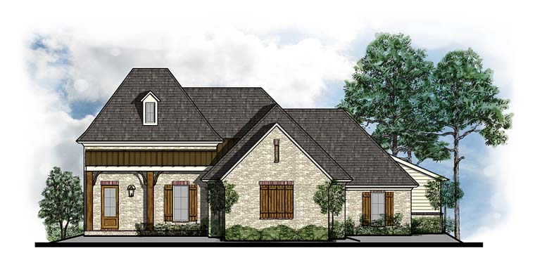 Cottage Country Craftsman French Country House Plan 41542 Elevation