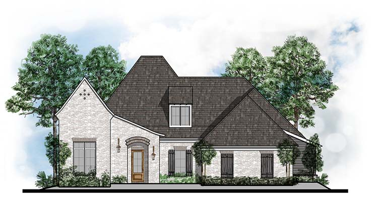 Contemporary European House Plan 41543 Elevation