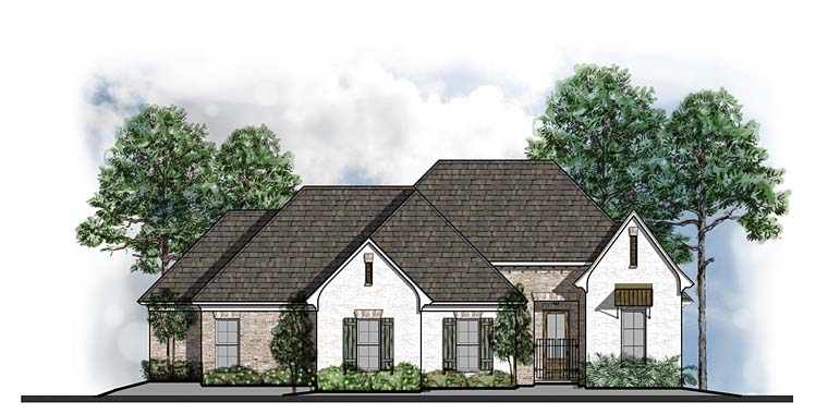 Country Southern Traditional House Plan 41544 Elevation