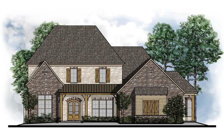 Colonial Country Craftsman European French Country Southern House Plan 41548 Elevation