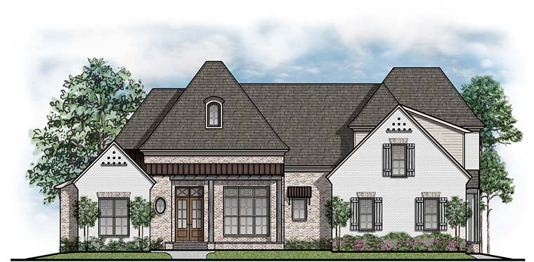 Country European French Country Southern House Plan 41549 Elevation