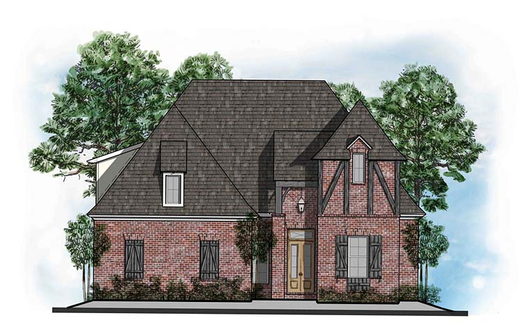 European French Country Southern Tudor House Plan 41550 Elevation