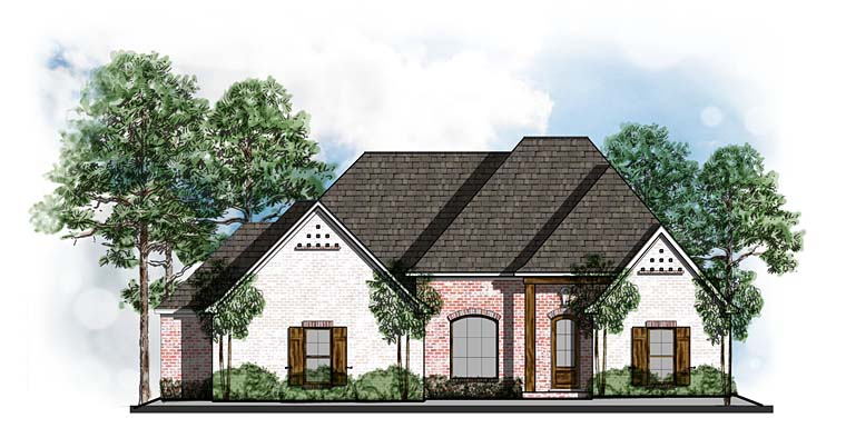 Country European Southern House Plan 41551 Elevation