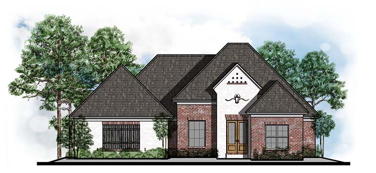 European Southern Traditional House Plan 41552 Elevation