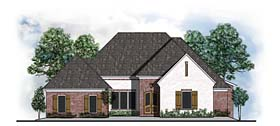 Country European Southern Traditional House Plan 41554 Elevation