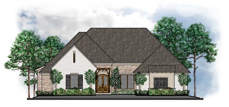 European Southern Traditional House Plan 41555 Elevation