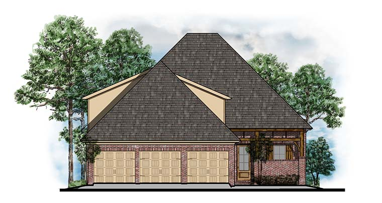 European, Southern, Traditional House Plan 41558 with 3 Beds , 3 Baths , 3 Car Garage Elevation