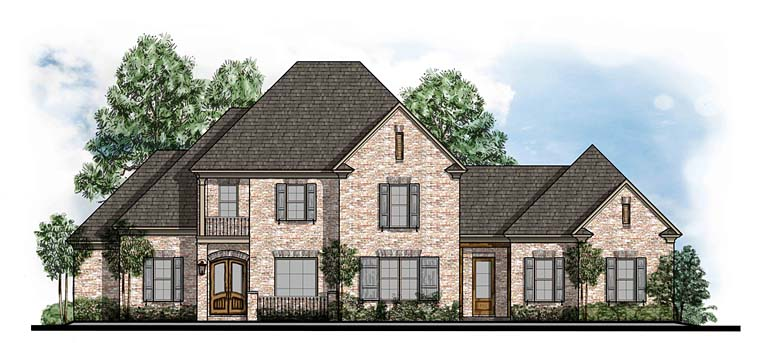 European, Southern, Traditional House Plan 41559 with 4 Beds , 4 Baths , 3 Car Garage Elevation