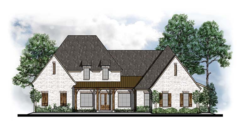 Country European French Country Southern House Plan 41566 Elevation