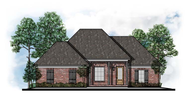 European Southern Traditional House Plan 41567 Elevation