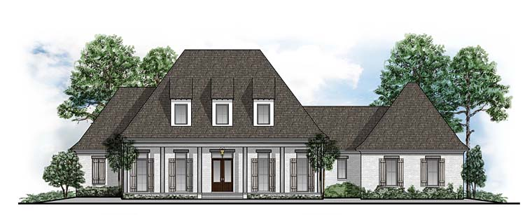 European French Country Southern House Plan 41569 Elevation