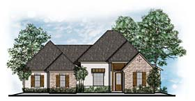 European House Plan 41570 Elevation