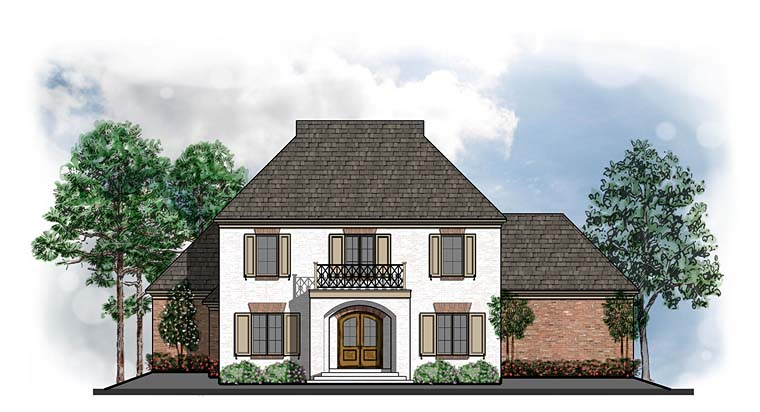 Colonial European French Country Southern House Plan 41571 Elevation