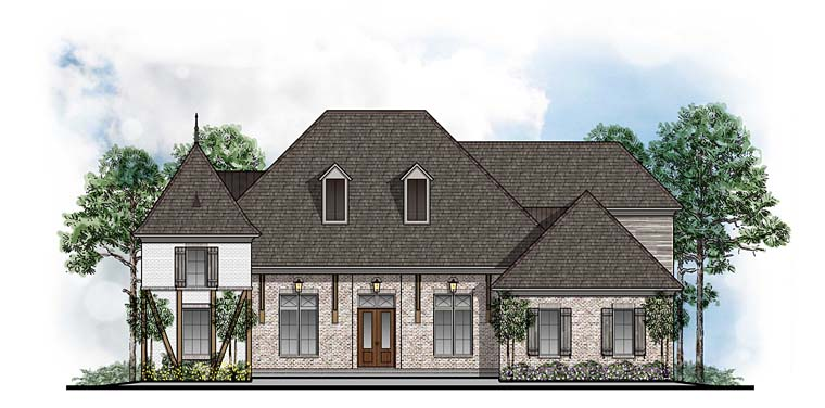 European French Country Southern House Plan 41572 Elevation