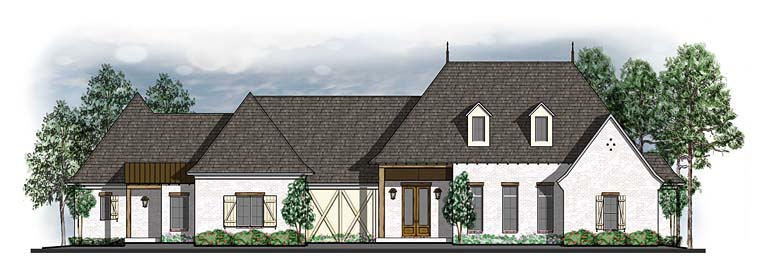 European Southern Traditional House Plan 41580 Elevation