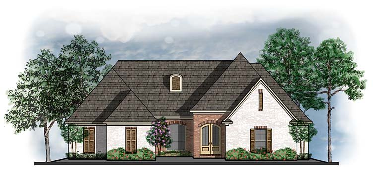 Ranch Southern Traditional House Plan 41582 Elevation