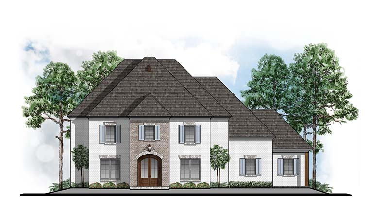 Colonial Southern House Plan 41585 Elevation