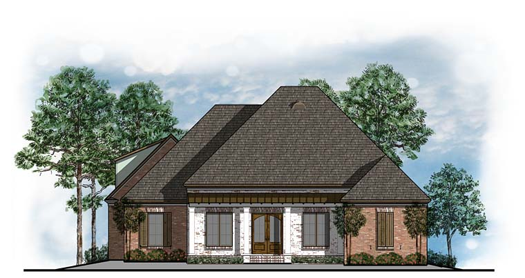 European Southern House Plan 41586 Elevation