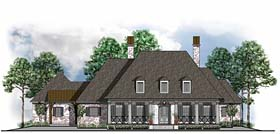 House Plan 41587 | Colonial European French Country Southern Style Plan with 3972 Sq Ft, 4 Bedrooms, 5 Bathrooms, 3 Car Garage Elevation
