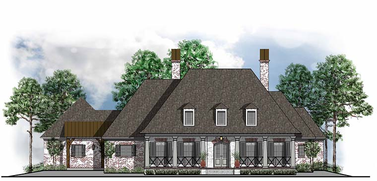 Colonial European French Country Southern House Plan 41587 Elevation