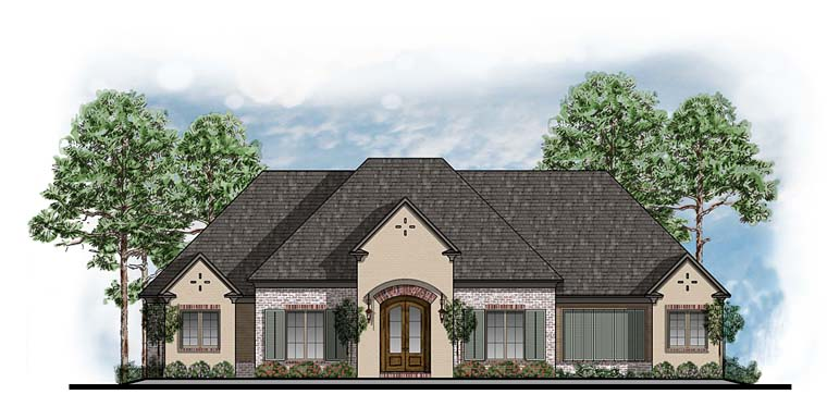 European Southwest House Plan 41588 Elevation