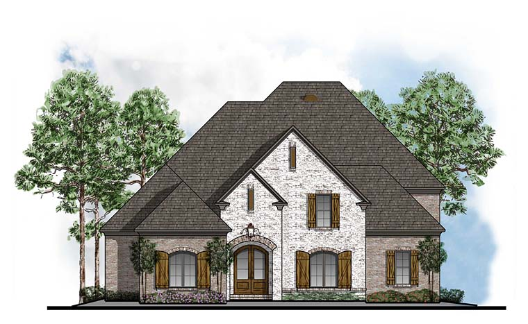 European Southern House Plan 41589 Elevation