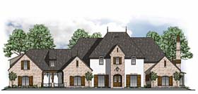 Traditional , Southern , French Country , European House Plan 41591 with 5 Beds, 6 Baths, 3 Car Garage Elevation