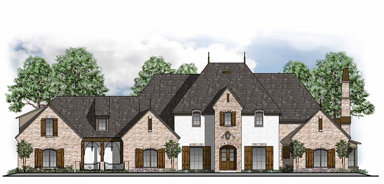 European, French Country, Southern, Traditional House Plan 41591 with 5 Beds, 6 Baths, 3 Car Garage Elevation
