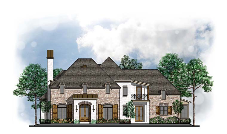 Colonial European Southern House Plan 41592 Elevation