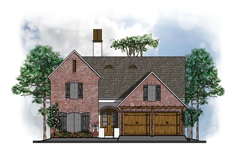 Country European Southern Traditional House Plan 41593 Elevation