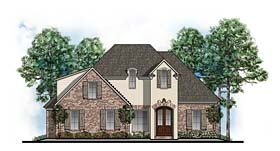 European Southern Traditional House Plan 41594 Elevation